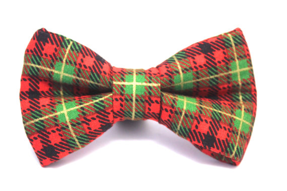 Свадьба - Dog Bow Tie, Doggie Bow Tie, Christmas Dog Bow Tie, Holiday Dog Bow Tie