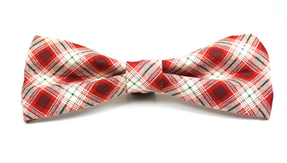 Свадьба - Plaid Dog Bow Tie - Log Cabin Plaid Removable and Adjustable Dog Bow Tie - Christmas Dog Bow Tie, Holiday Dog Bow Tie, Wedding Dog Bow Tie