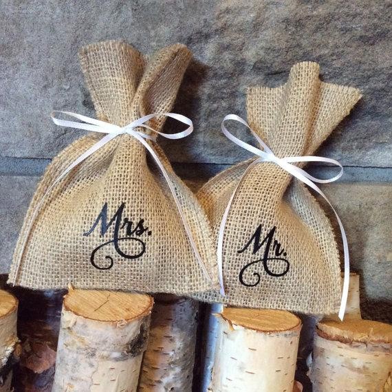 burlap wedding ring bags customize with your wedding date mr mrs ring bags ring holder ring bearer