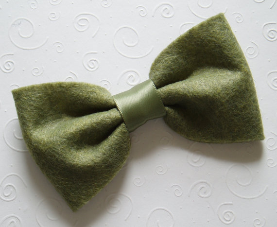 Mariage - Dog Bow Tie Collar bowtie Ring Bearer Outfit Outdoor Wedding doggie bowtie CHRISTMAS OLIVE GREEN Pet Clothing tux outfit party