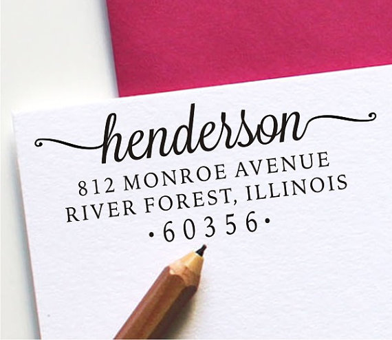 Wedding - Return Address Stamp - Custom Address Stamp - Self Inking Stamp or Wood Handled (H121)
