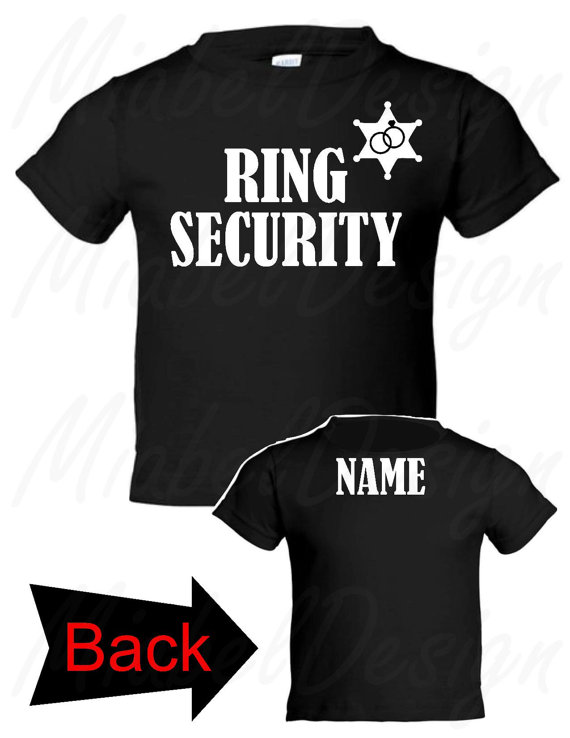 Wedding - 1 Youth Tshirt Ring Security, Ring Security Tshirt, Ring Bearer Tshirt, Custom tshirt, personalized tshirt, ring bearer personalized tshirts