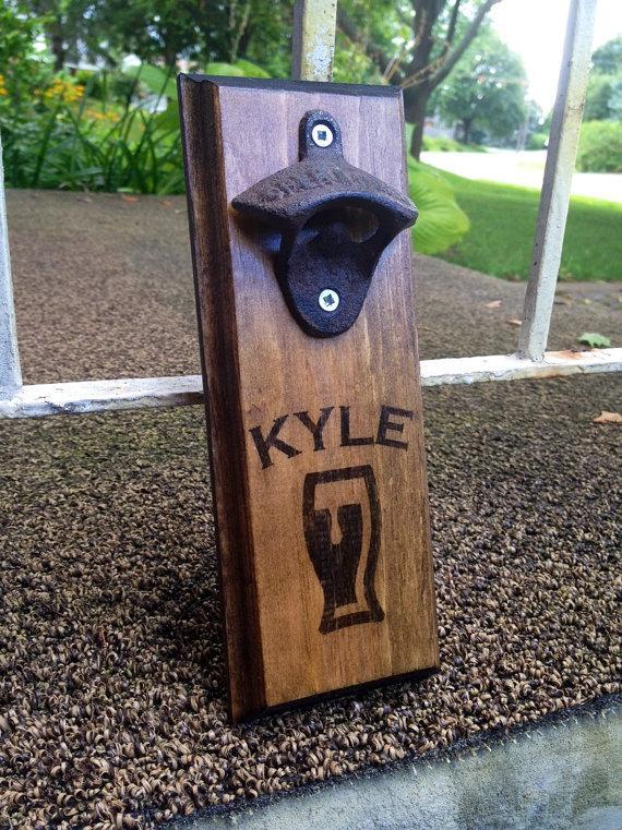 personalized custom wall mount wall bottle opener wall beer opener