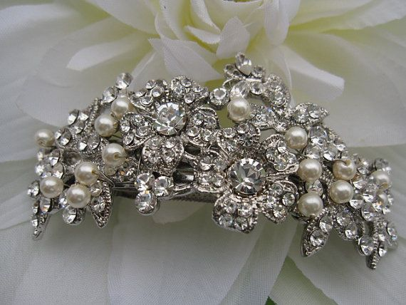 Свадьба - Vintage Inspired Bridal Hair Comb,bridal Hair Clip,wedding Hair Clip,wedding Headpiece,bridal Hair Piece,pearl Headpiece,wedding Barrette