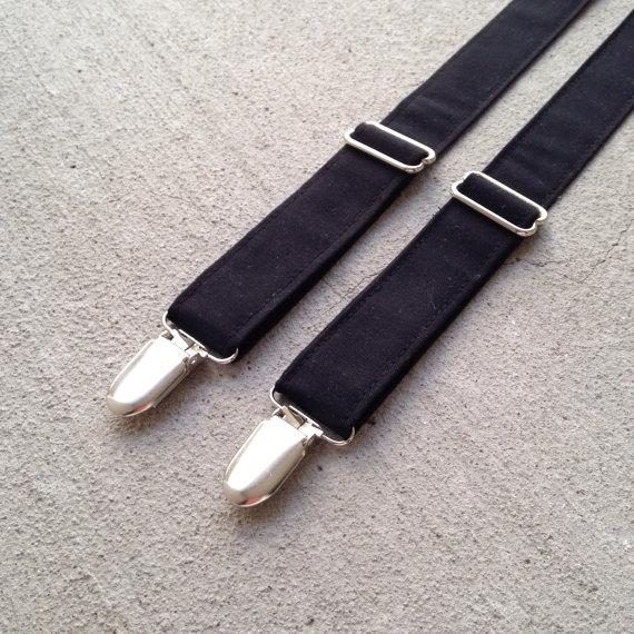 Mariage - Black Suspenders. Baby and toddler suspenders, boy's suspenders, men's suspenders.