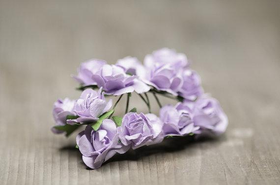 زفاف - Lavender Flowers, 22mm Miniature Flowers, Wedding Findings, Lavender Bouquet Findings, Floral Supplies, Craft Supplies, Lavender Wedding