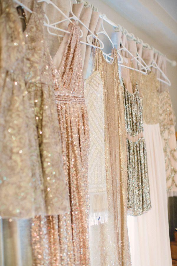 Wedding - 21 Sparkly Bridesmaids Dresses That Will Have Your Girls Glowing