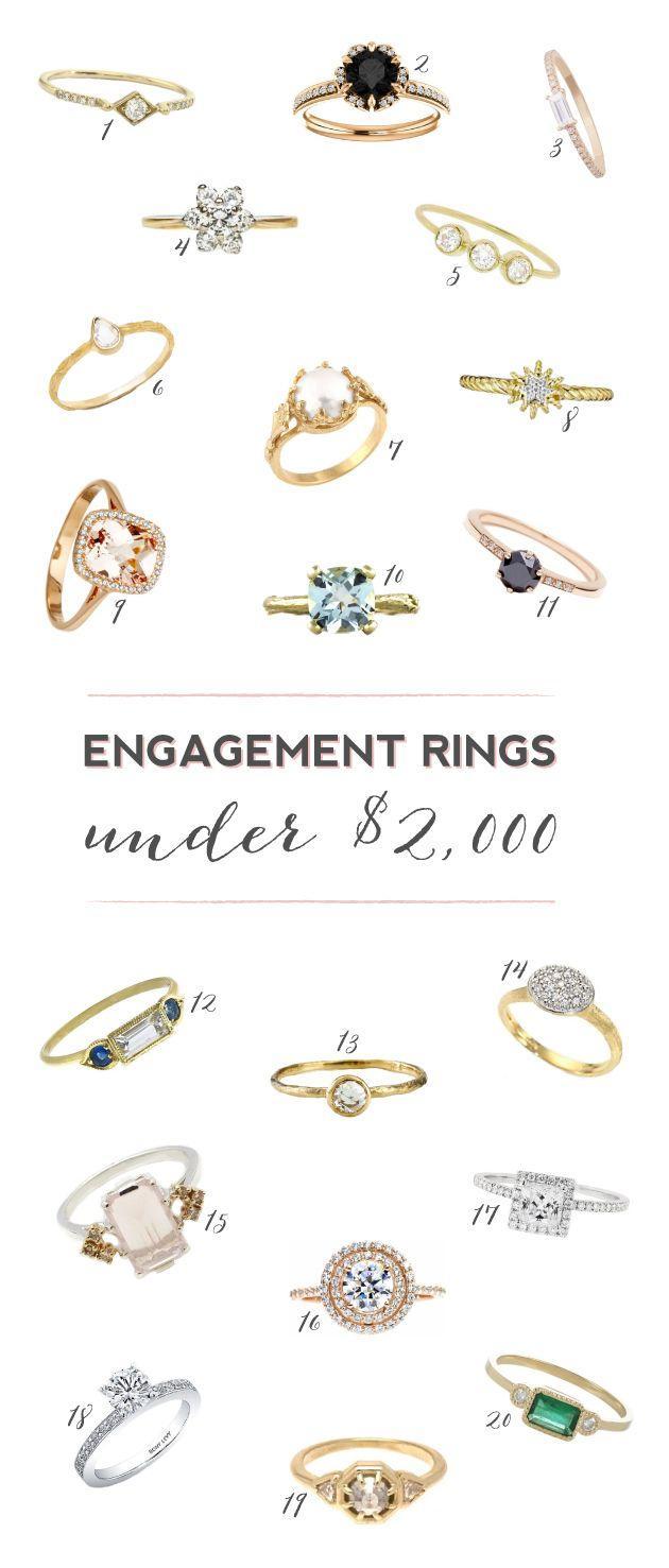 20 Stunning Engagement Rings Under $2 000 Weddbook
