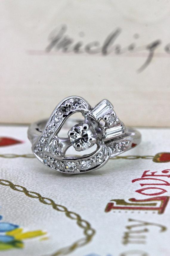 زفاف - Heart and Arrow Ring