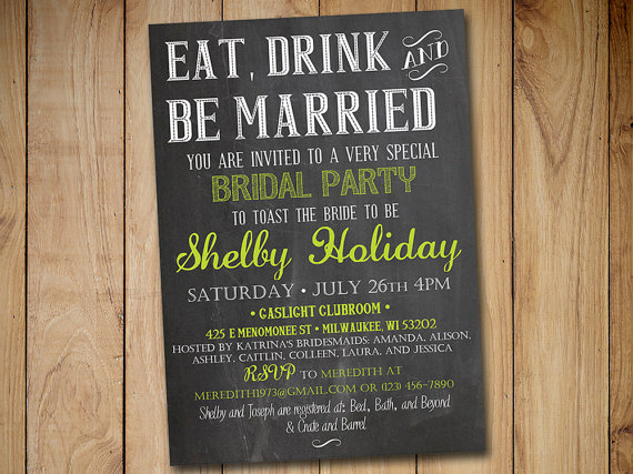 chalkboard bridal shower invitation eat drink and be married lime green chalkboard wedding shower template diy wedding
