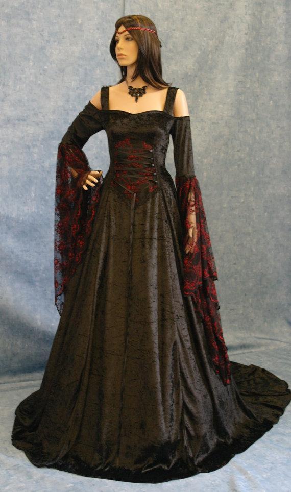Dress renaissance dress medieval dress halloween wedding dress