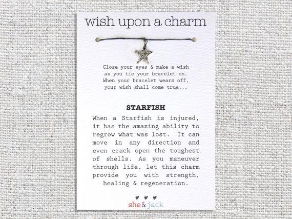 Свадьба - STARFISH - Wish Bracelet - Silver Charm - Hemp Cord - Choose Your Own Color
