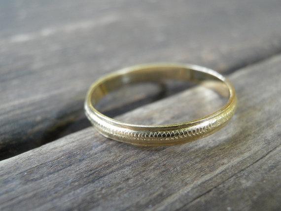Gold Women Men Wedding Band Stacking Ring Wedding Ring Ring