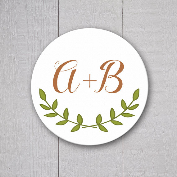 Rustic Wedding Sticker, Personalized Wedding Invitation Sticker