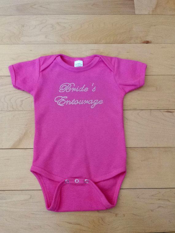 Wedding - Infant Bride's Entourage Onesie . Bride's Entourage Shirt . Custom Bride's Entourage Onesie. Flower Girl gift . Brides Entourage