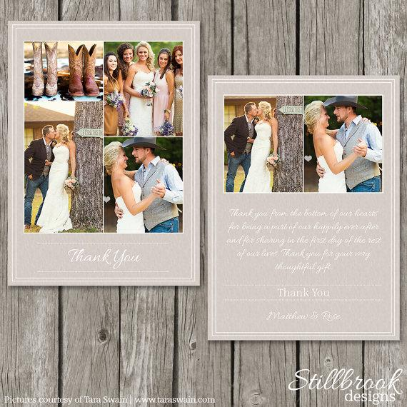 Wedding Thank You Card Template Personalized Photo Thank You – Thank You Card Template Wedding