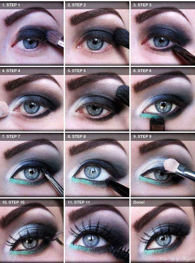 Свадьба - 20 Beautiful Makeup Tutorials For Blue Eyes