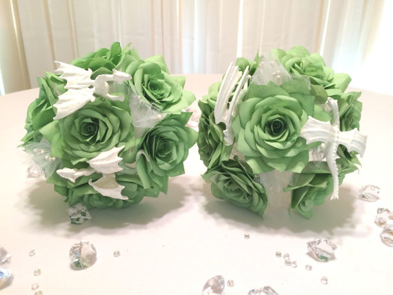 Dungeons And Dragon Themed Wedding Bouquets In Colors Of Your Choice