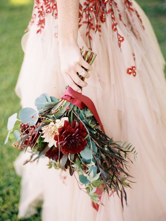 Bold And Colorful Fall Wedding In Burgundy Orange And Teal