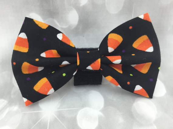 Свадьба - Halloween Candy Corn Medium Dog Bow / Bow Tie