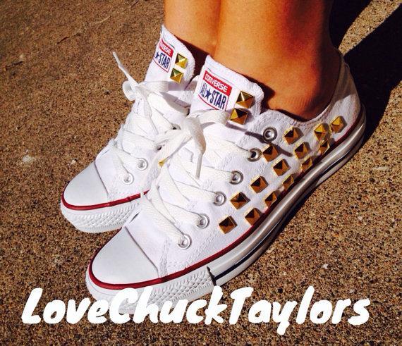 زفاف - Studded Converse Chuck Taylor All Stars Shoes