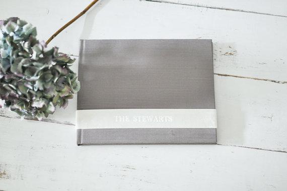 Свадьба - Custom Wedding Album Design, a meaningful Family Photo Book - Velvet Sash design by ClaireMagnolia