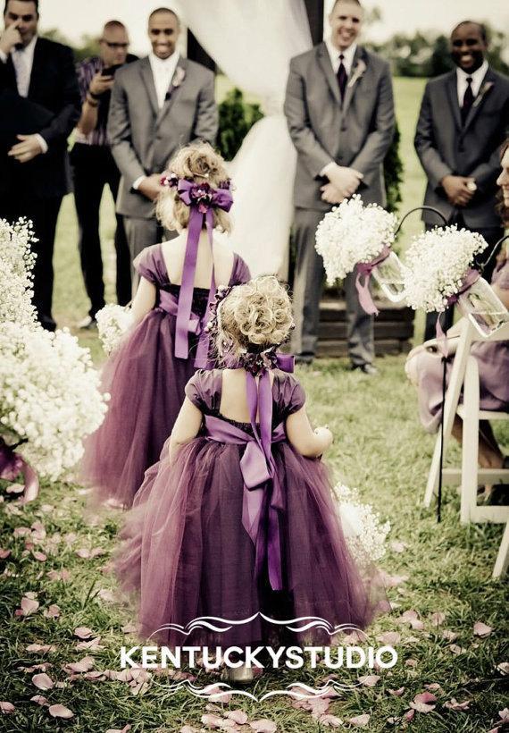 Свадьба - Reserved for ELENI Flower Girl Dress CUSTOM
