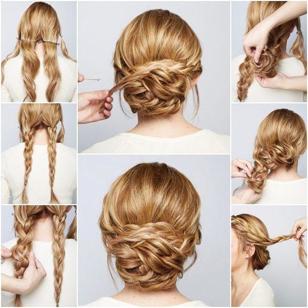 Hochzeit - How To DIY Chic Braided Chignon Hairstyle