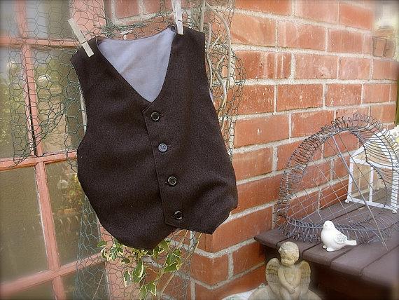 630f4c7cd Boys Brown Vest