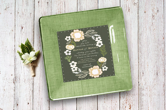 Wedding gifts using the invitation