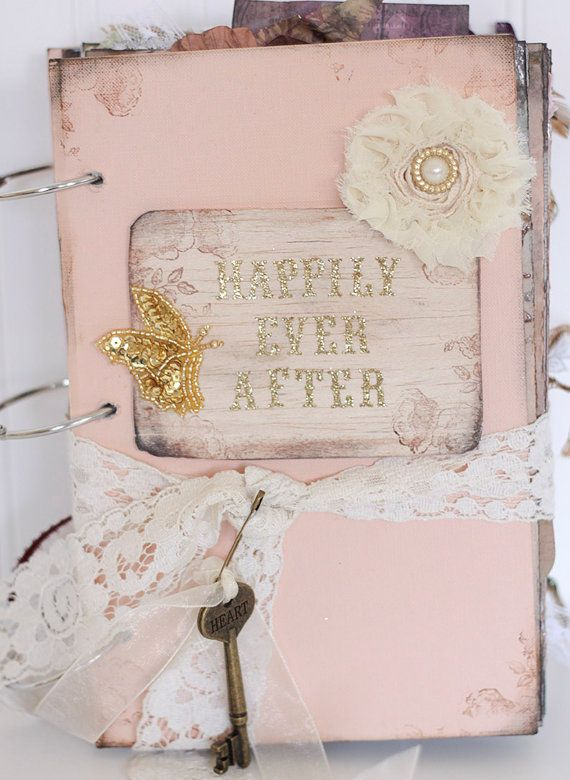 Peach Happily Ever After Fairytale Wedding Guestbook Fairy Tale ...
