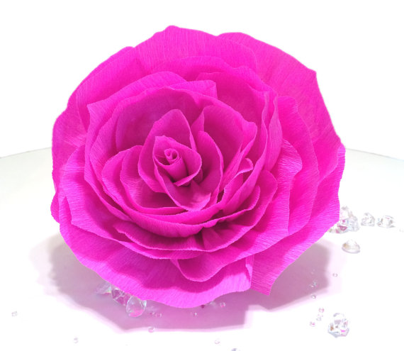 Giant hot pink paper rose crepe paper flower giant bouquet flower giant hot pink paper rose crepe paper flower giant bouquet flower hot pink crepe paper rose large crepe paper flowers baby shower decor mightylinksfo