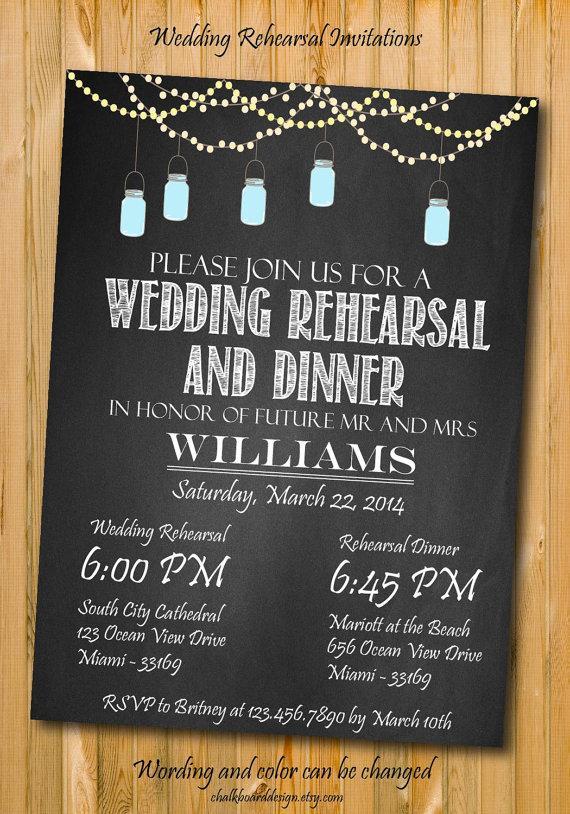 Wedding - Rehearsal Dinner invitation, Printables, Custom Dinner invitation, wedding dinner invitation, mason jar invitations