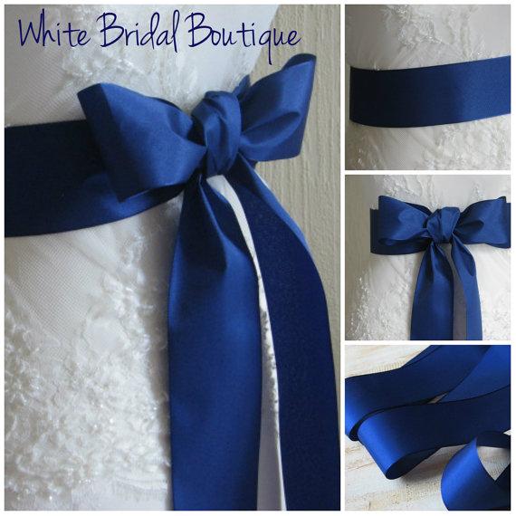 Mariage - Royal blue sash Royal blue wedding sash Royal blue ribbon sash Royal blue bridesmaids sash Royal blue wedding Royal blue ribbon Blue sash
