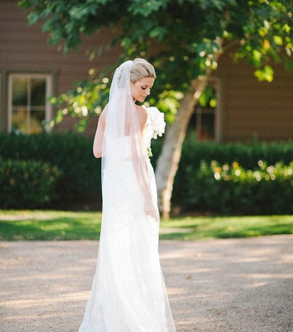 زفاف - Long wedding veil ivory long veil white long veil