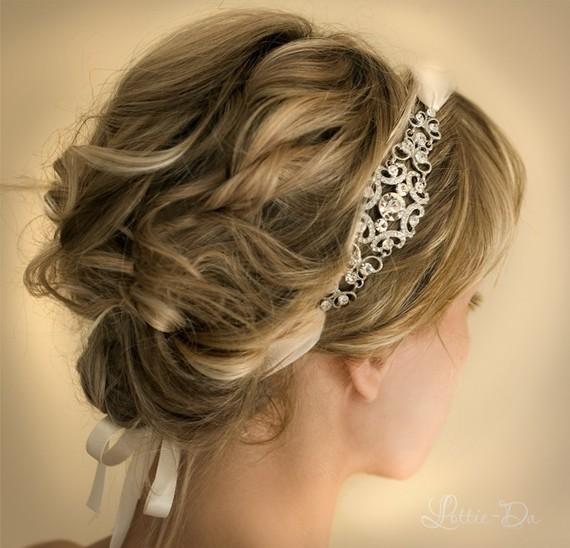 Свадьба - 1920s Bridal Ribbon Headband, Gatsby Headband, Vintage Headband, Downton Abbey Headpiece, Lottie Da Designs - GRACIE