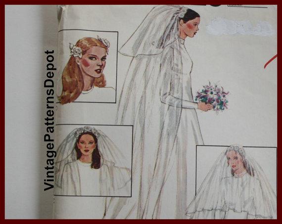 Mariage - WEDDING VEIL Pattern, Bridal Headpiece Pattern, UNCUT McCalls 6911, Vintage 1970s, 70s Vintage Hair Wedding Accessories Patterns