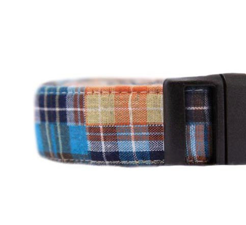 زفاف - Patchwork Plaid Dog Collar