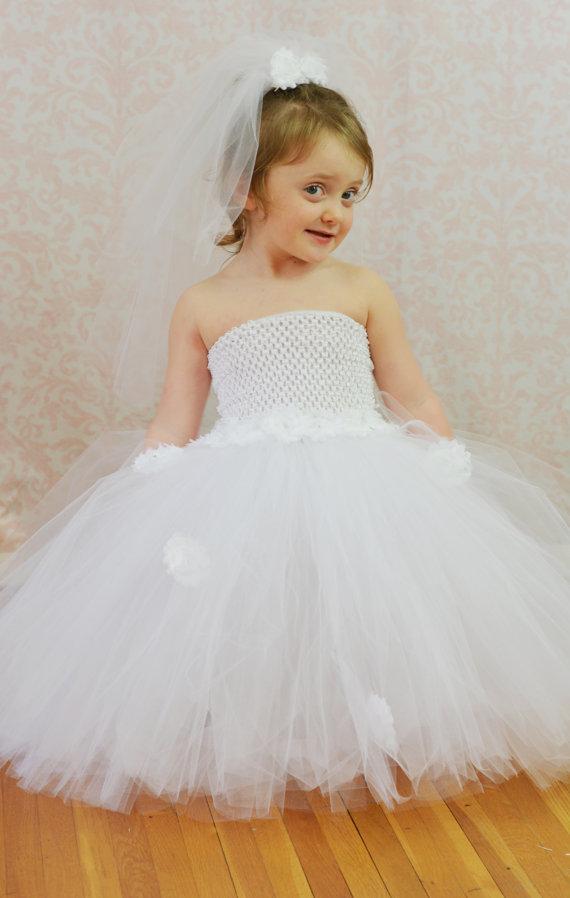 Wedding Tutu, Wedding Tutu Dress, Flower Girl Tutu, Flower Girl ...