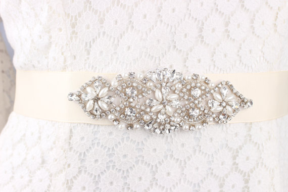 Mariage - Bridal sash, wedding sash, wedding sash rhinestone, bridal belt, wedding dress belt, wedding dress sash, rhinestone wedding sash