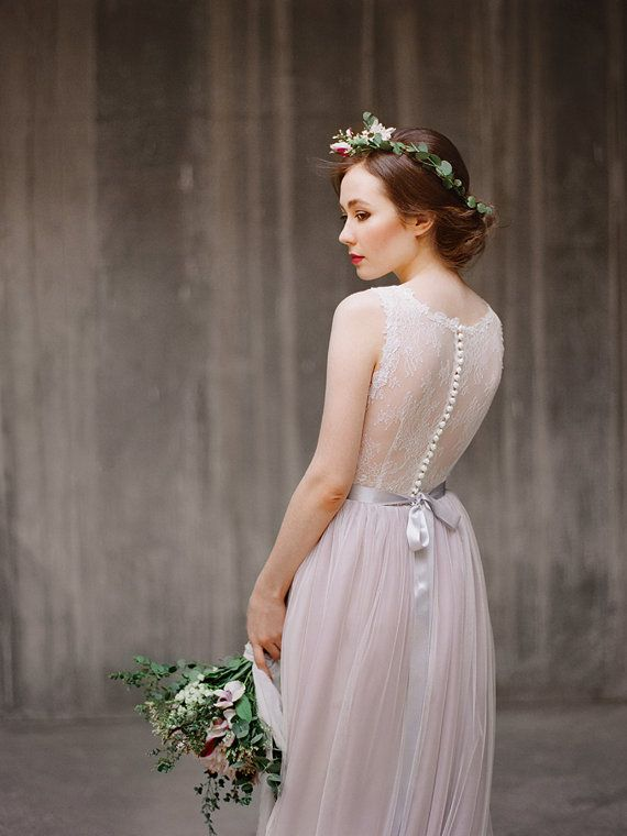 Ulyana // Sheer Back Wedding Dress - Illusion Back Wedding Gown ...