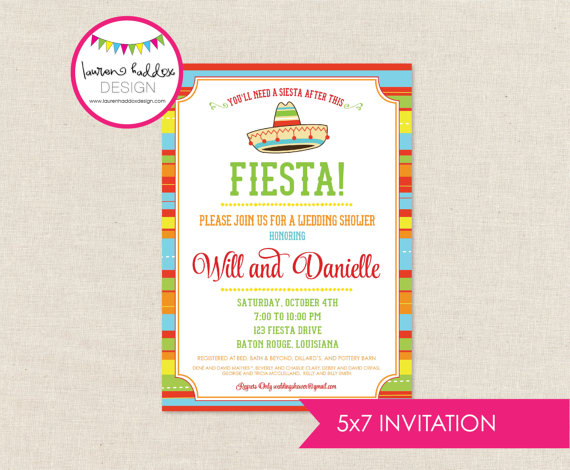 Mariage - DIY, Fiesta Couples Shower INVITATION ONLY
