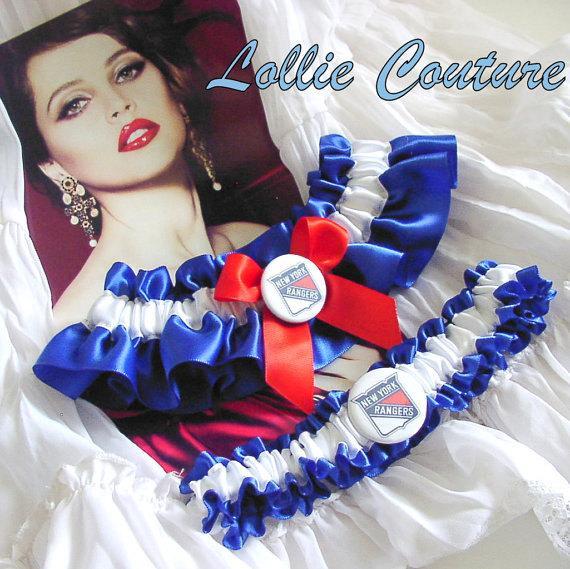 Hochzeit - NY Rangers custom wedding lingerie
