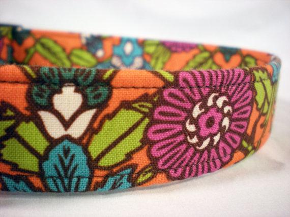 زفاف - Purple Flowers Dog Collar Girl Boy by Pinkys Pet Gear