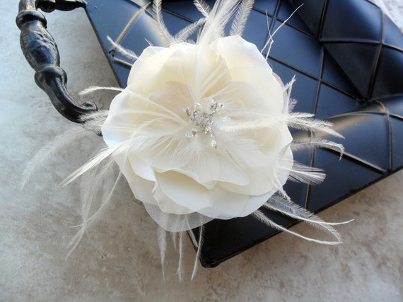 Mariage - DeeLynn- organza hairpiece, bridal headpiece, wedding accessory, wedding headpiece, bridal hair flower