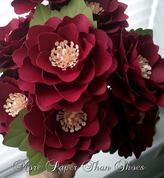Paper flowers wedding bouquet home decor stemmed flowers paper flowers wedding bouquet home decor stemmed flowers made to order wide variety of colors set of 48 mightylinksfo