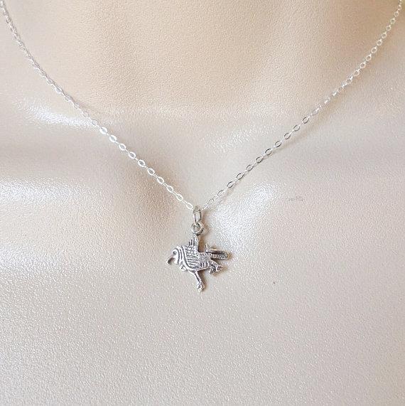 Свадьба - Griffin Necklace - Sterling Silver Griffin Necklace - Sterling Silver Necklace - Layering Necklace - Mythological Jewelry - Greek Mythology