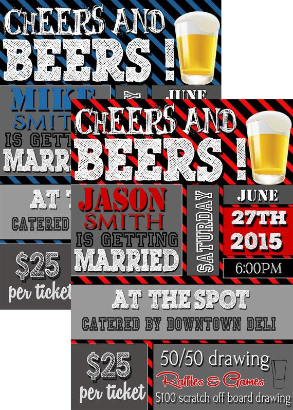 Cheers And Beers He Is Getting Married Invitation Unique Stag – Stag Party Invitation