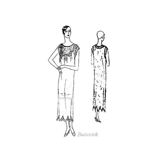 Свадьба - 1920s Butterick Pattern 2101, Womens Nightgown Bust 34, Vintage Bridal Nightgown, Trousseau, Vintage Lingerie Sewing Pattern, Art Deco