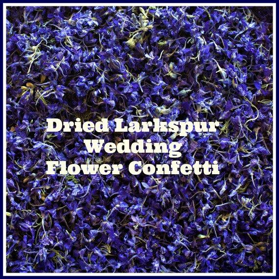 Свадьба - Confetti, 9 Cups, Dried Flowers, Purple Flowers, Wedding Decorations, Dried Larkspur, Tossing Flowers, Flower Petals, Blue, Purple